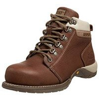 Brown Leather Caterpillar Carlie Work Boots