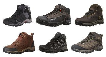 Different types of hiking boots