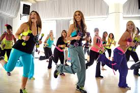 Women doing a Zumba® Toning session