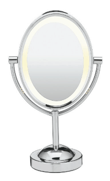 best lighted makeup mirror conair oval double-sided
