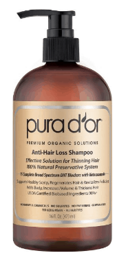 best shampoos for hair loss Pura D'or Anti-Hair Loss Premium Organic Argan Oil Shampoo