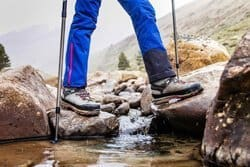 Ankle support whilst wearing wading boots for hiking