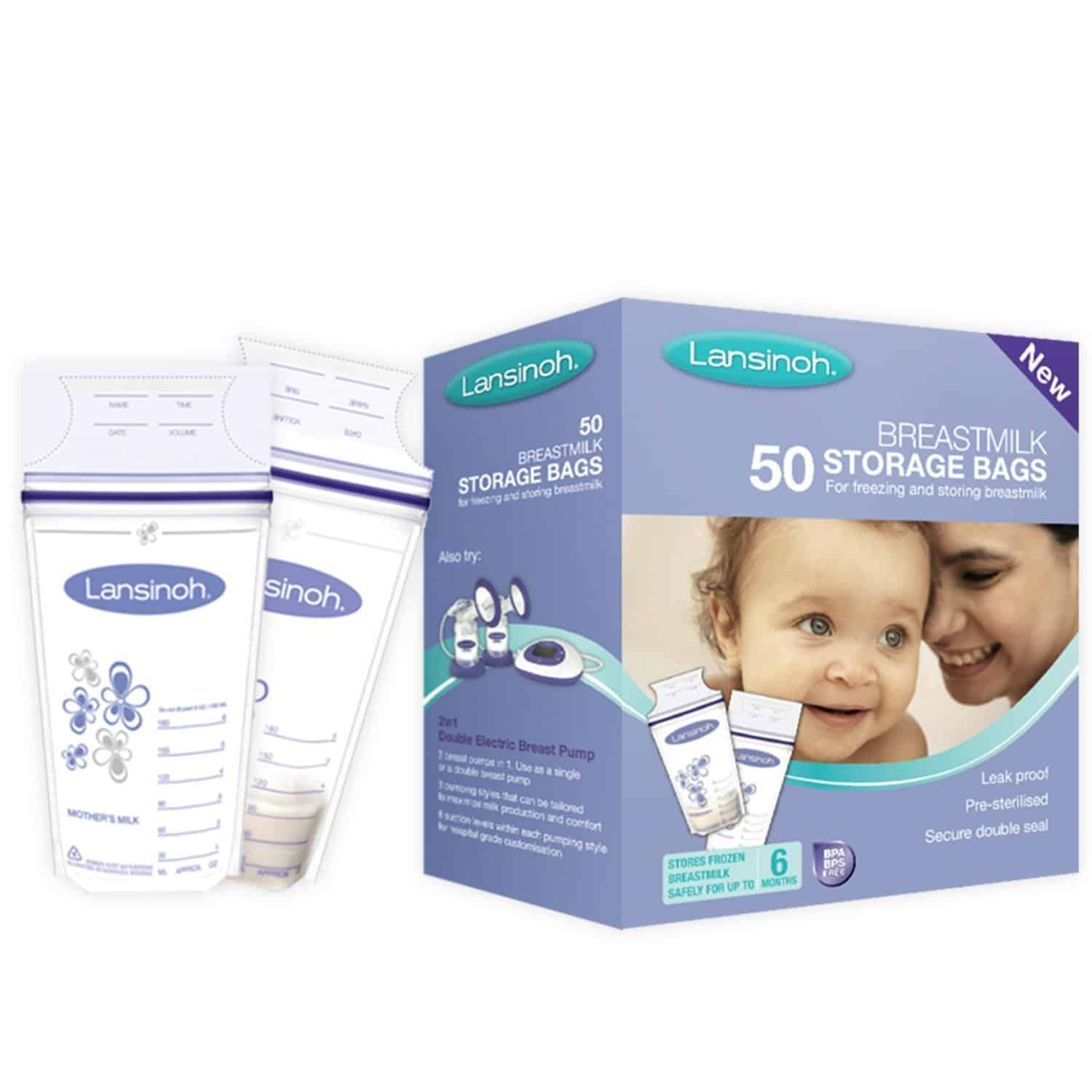 lansinoh breastmilk storage bags in reviews