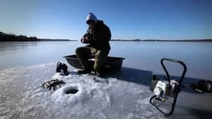Ice fishing has become popular recently