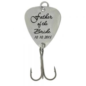 Personalized fishing lure - father of the bride