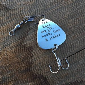 Personalized fishing lure - you have my heart
