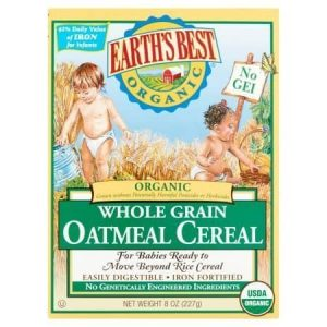 earths best - organic whole grain oatmeal cereal - 8 oz.