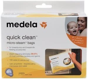 medela micro steam bags, for sanitary clean, microwavable, personal review