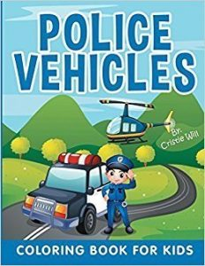 police vehicles: coloring book for kids