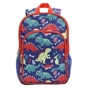 toddler backpack in red and blue color