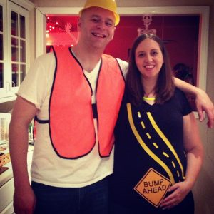 bump ahead pregnancy costume