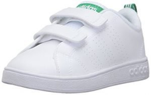 adidas advantage clean for kids, white shoes