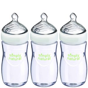 Simply natural baby bottles for milk and formula, three pack, good deal and good customer reviews