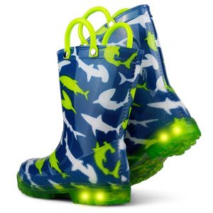 Chillipop Light Up Rainboots for Boys Girls amp Toddlers with Fun Kid Prints