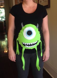 mike monsters inc pregnant costume, fun, halloween