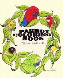 parrot coloring book nature series