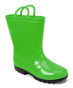 green toddler boots