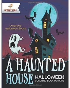 a haunted house coloring book